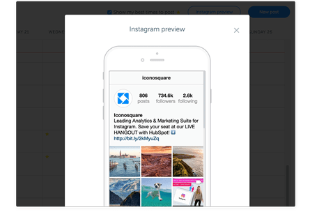 Preview how your Instagram feed will look